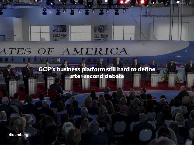 GOP's business platform still hard to define after second debate