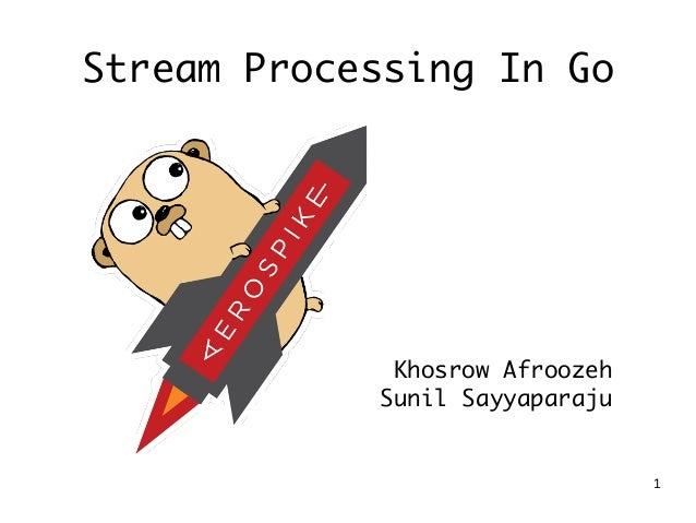 1 Stream Processing In Go Khosrow Afroozeh Sunil Sayyaparaju