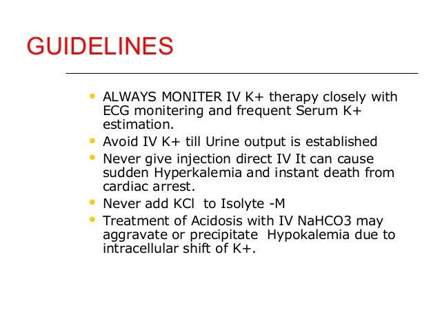 Kcl injection hyperkalemia
