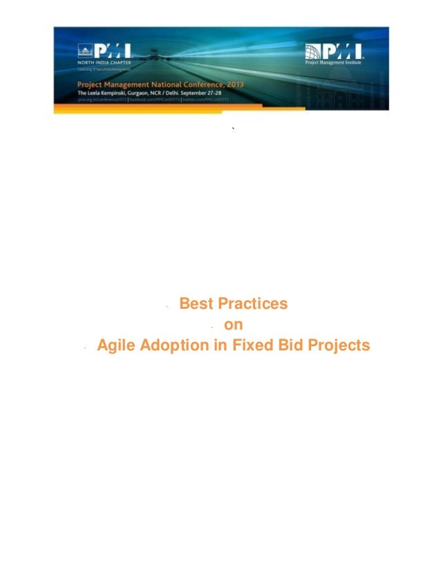 ` - Best Practices - on - Agile Adoption in Fixed Bid Projects