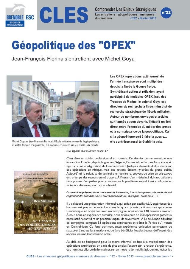 CLES                                                                                Comprendre Les Enjeux Stratégiques    ...