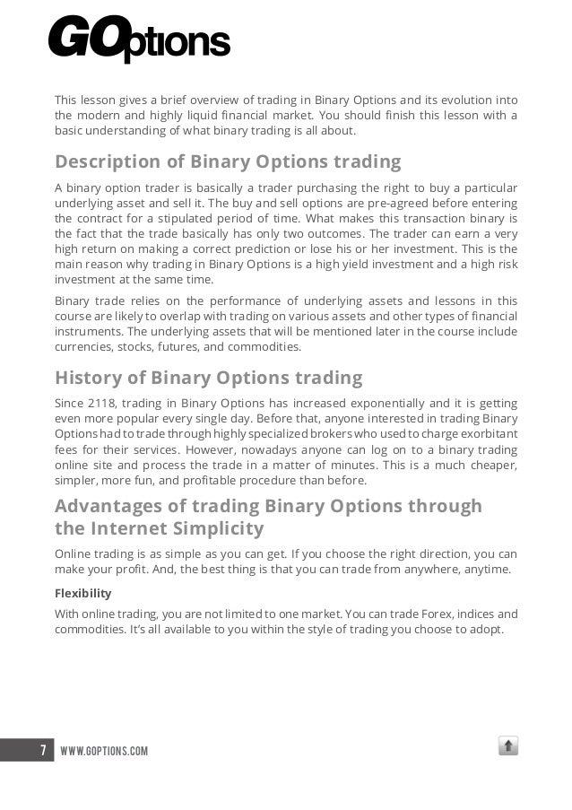goptions binary options