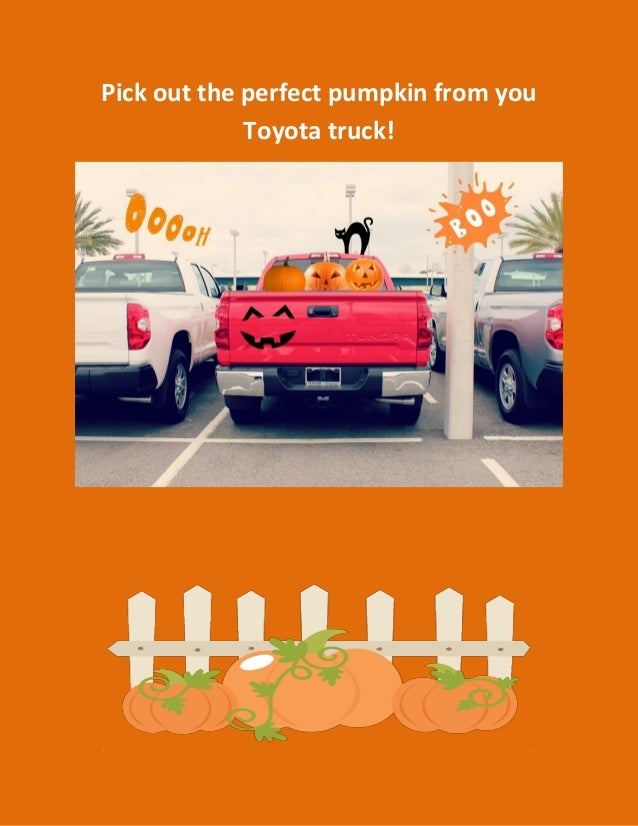Pick out the perfect pumpkin from you Toyota truck!