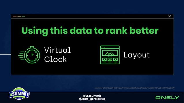 #SEJSummit @bart_goralewicz Virtual Clock = Rendering Budget* *simplification