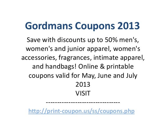 picture relating to Gordmans Printable Coupon named Gordmans Coupon codes Code Could possibly 2013 June 2013 July 2013