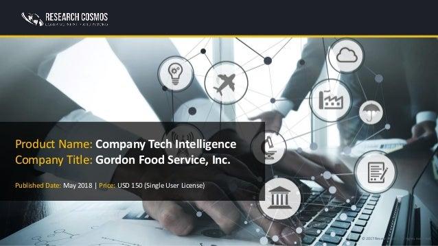 GORDON FOOD SERVICE, INC  Company Profile | Research Cosmos
