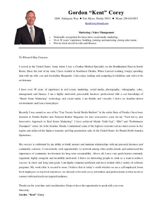 kent cover letter