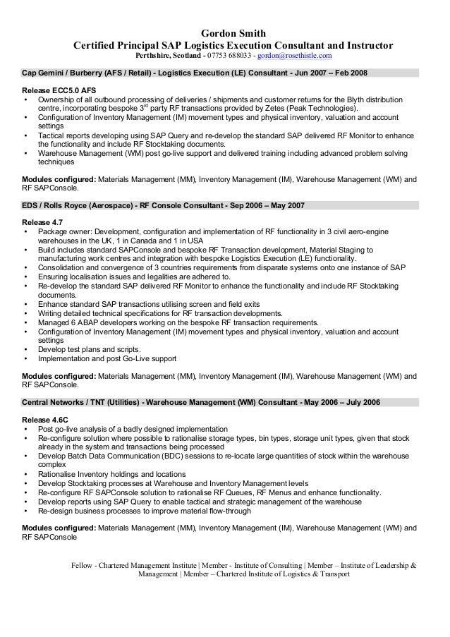 sap sd resume pdf resume ideas