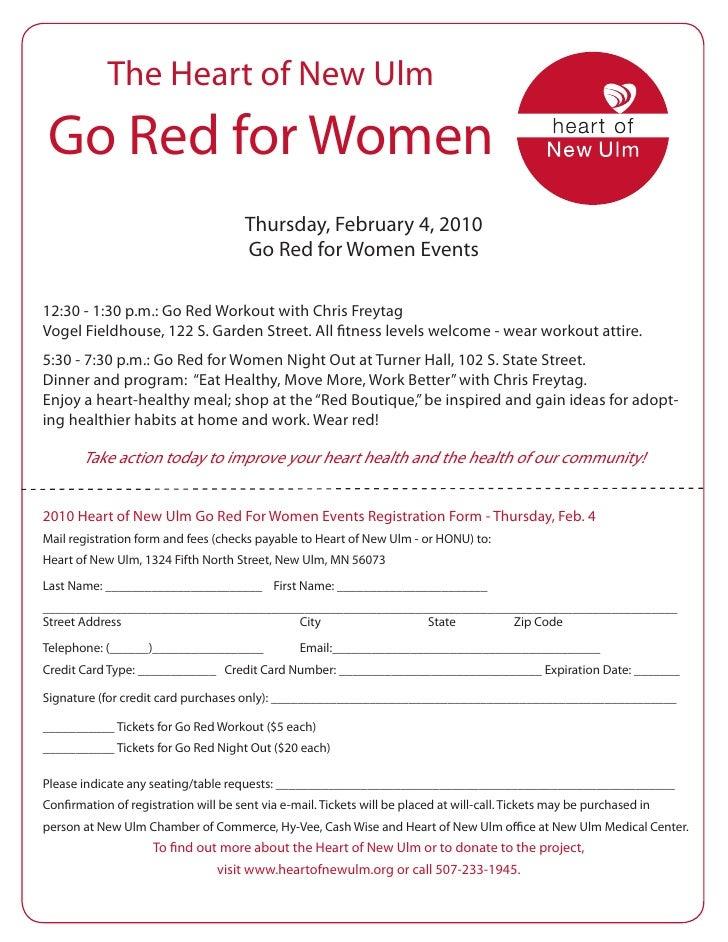 The Heart of New Ulm  Go Red for Women                                        Thursday, February 4, 2010                  ...