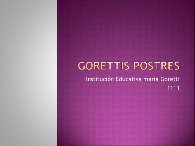 Institución Educativa maría Goretti 11°1
