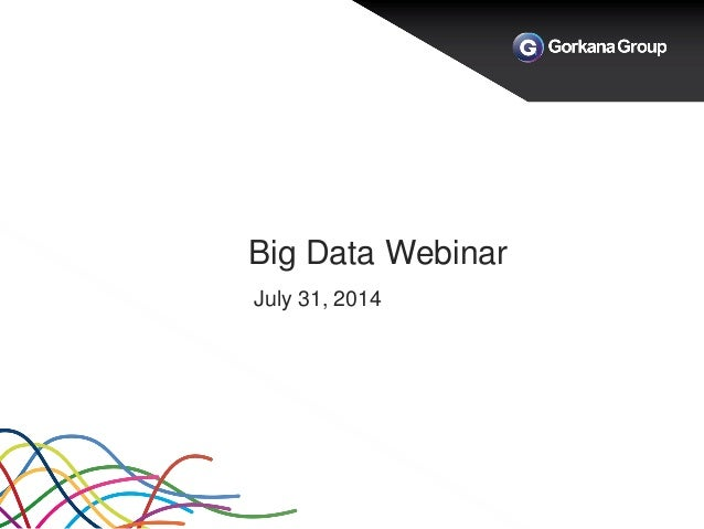 Big Data Webinar July 31, 2014