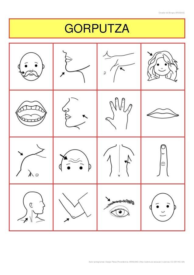 Creador de Bingos ARASAACGORPUTZA  Autor pictogramas: Sergio Palao Procedencia: ARASAAC (http://catedu.es/arasaac/) Licenc...