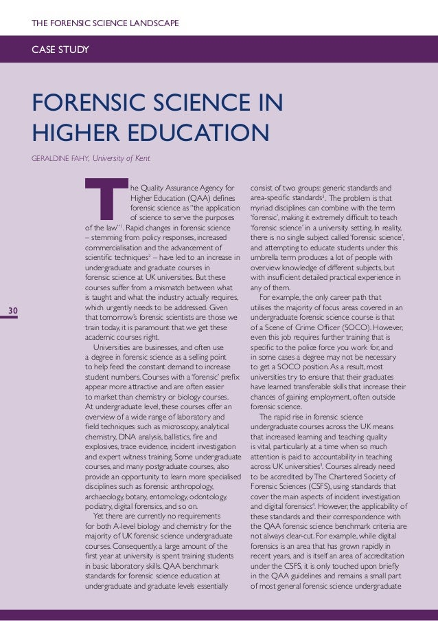 case studies in forensic science Hank green of crashcourse explains the scientific method, case studies,  naturalistic observation, surveys and interviews, experimentation, and proper  research.