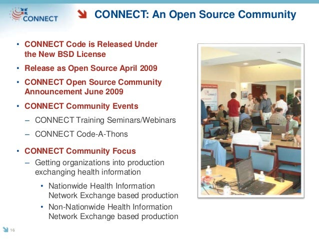 CONNECT: An Open Source Community • CONNECT Code is Released Under the New BSD License • Release as Open Source April 2009...