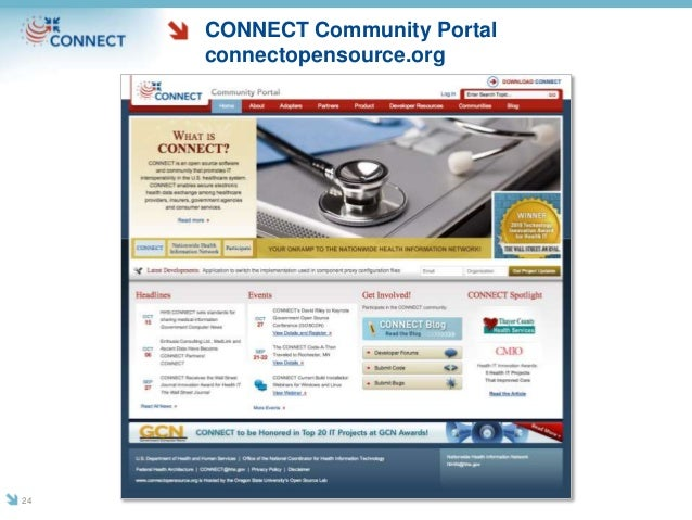CONNECT Community Portal connectopensource.org 24