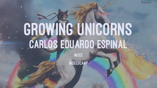 GROWING UNICORNS CARLOS EDUARDO ESPINAL @CEE @SEEDCAMP