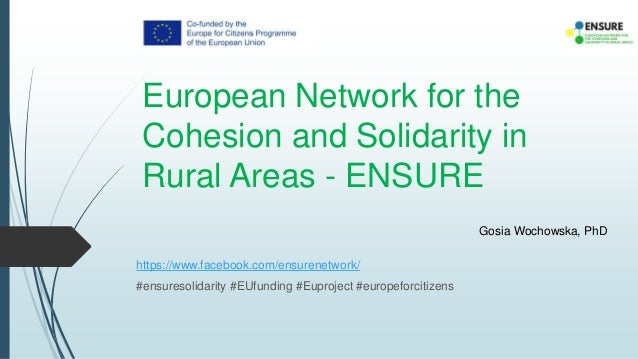 European Network for the Cohesion and Solidarity in Rural Areas - ENSURE https://www.facebook.com/ensurenetwork/ #ensureso...