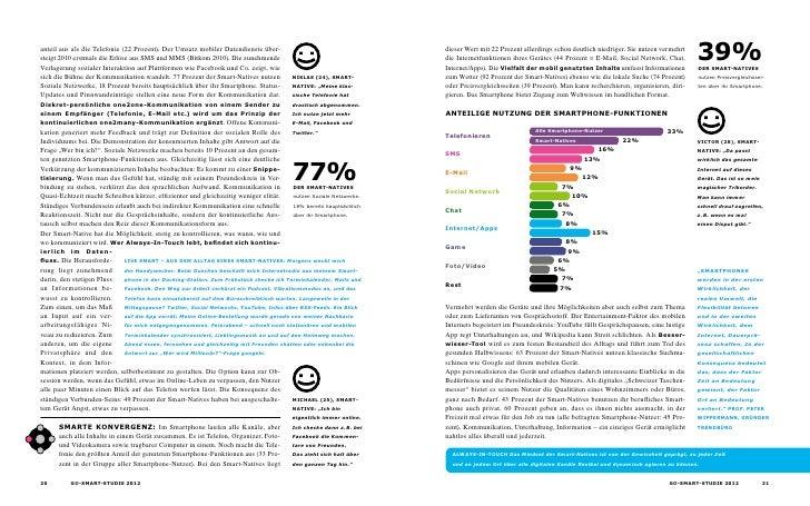 anteil aus als die Telefonie (22 Prozent). Der Umsatz mobiler Datendienste über- steigt 2010 erstmals die Erlöse aus SMS u...
