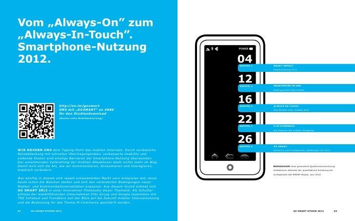 """Vom """"Always-on"""" zum """"Always-in-Touch"""". Smartphone-nutzung                                                                 ..."""