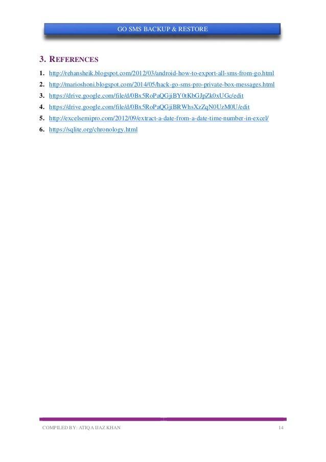 GO SMS Backup, Restore, and Decrypt