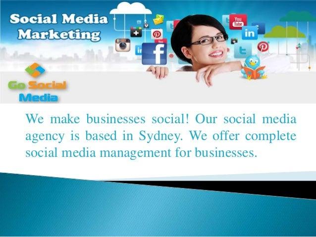 We make businesses social! Our social media agency is based in Sydney. We offer complete social media management for busin...