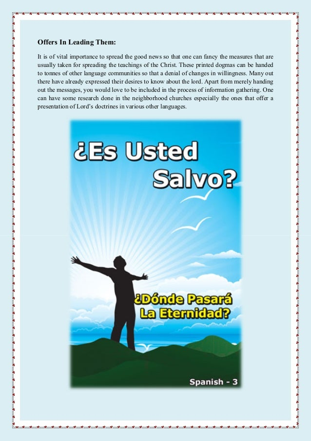 Gospel tracts in spanish help you witness silently