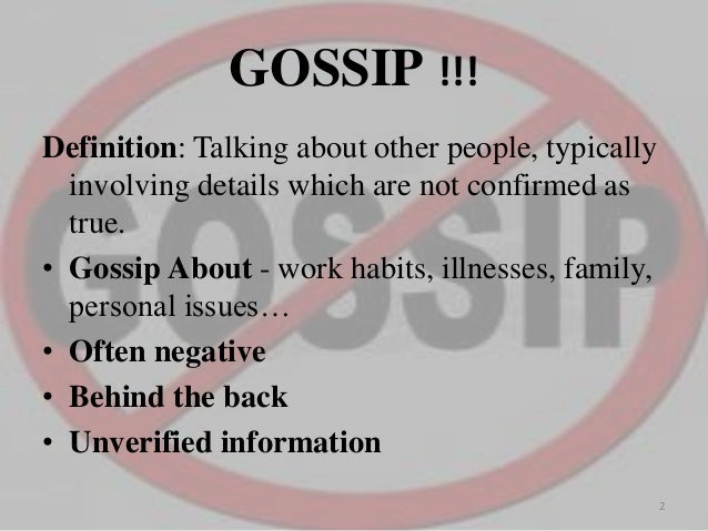 Gossip in workplace