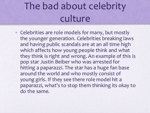 Bad celebrity role model examples of character
