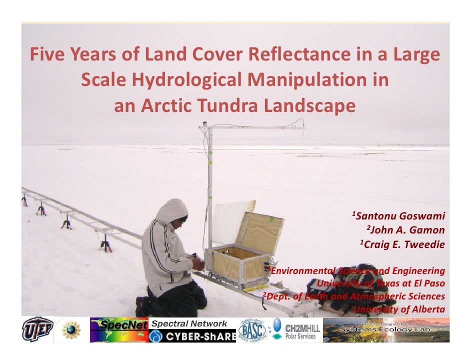 Five Years of Land Cover Reflectance in a Large       Scale Hydrological Manipulation in           an Arctic Tundra Landsc...