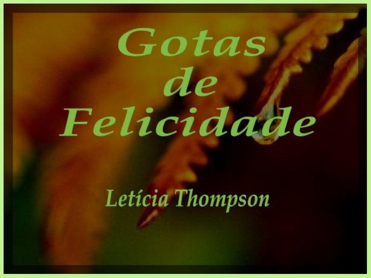 Gotas de Felicidade Letícia Thompson