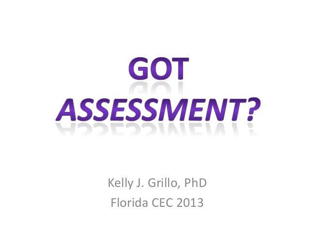 Kelly J. Grillo, PhD Florida CEC 2013