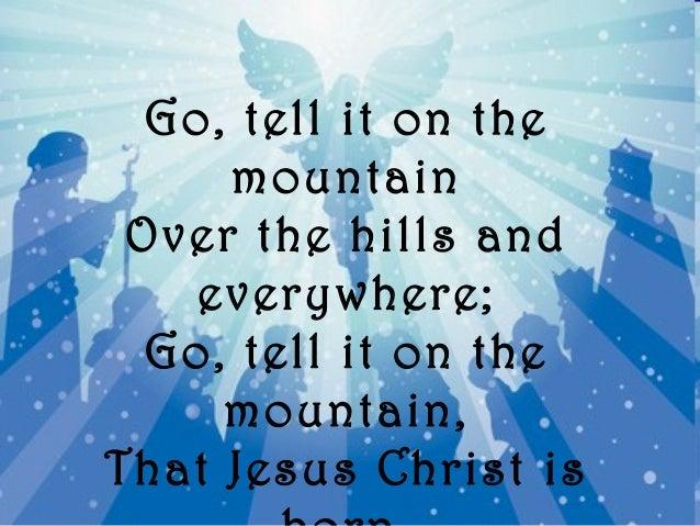 Go tell