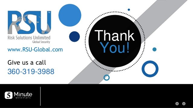 Thank You! Thank You! 360-319-3988 Give us a call www.RSU-Global.com