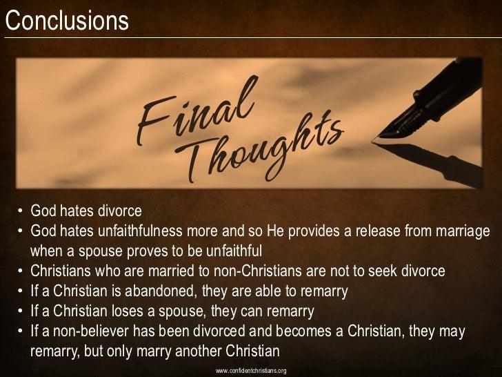 Why christians divorce