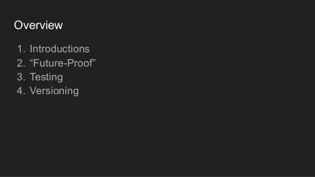 Future-proof your Go API - GothamGo 2018 Slide 2