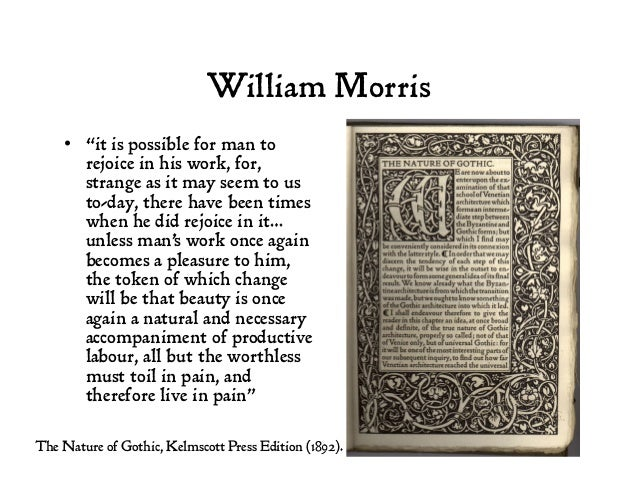 """William Morris • """"it is possible for man to rejoice in his work, for, strange as it may seem to us to-day, there have bee..."""