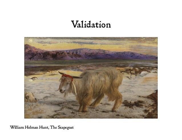 Validation William Holman Hunt, The Scapegoat