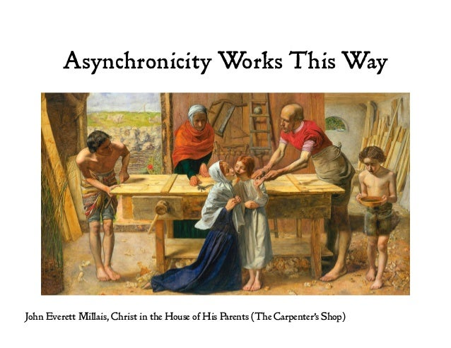 Asynchronicity Works This Way John Everett Millais, Christ in the House of His Parents (The Carpenter's Shop)