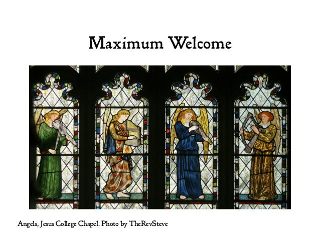 Maximum Welcome Angels, Jesus College Chapel. Photo by TheRevSteve
