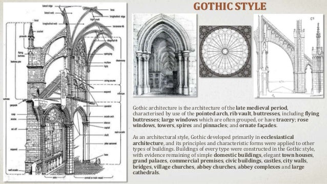 RIB VAULTS POINTED ARCHES AND DECORATIVE ELEMENTS