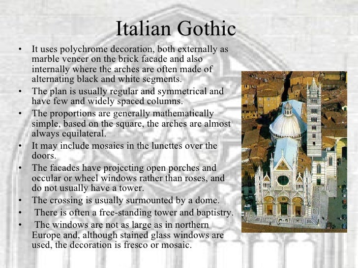 gothic art and architecture Brick gothic is a style of gothic architecture common in northern europe, especially in northern germany and the regions around the baltic sea without natural rock resources where the buildings are built, more or less, using only bricks.