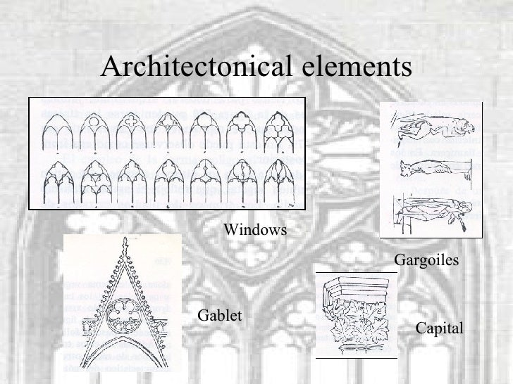 Architectonical Elements Windows Gablet Gargoiles Capital