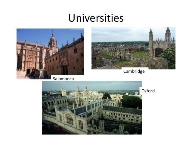 Universities Salamanca Cambridge Oxford