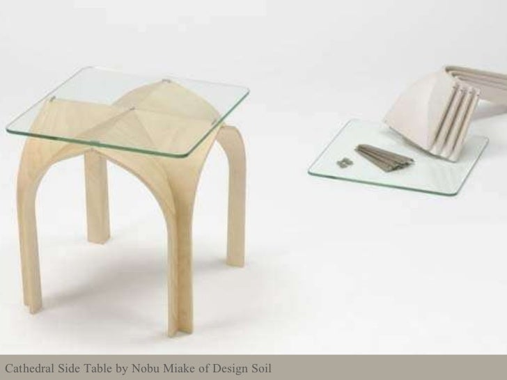 Cathedral Side Table by Nobu Miake of Design Soil