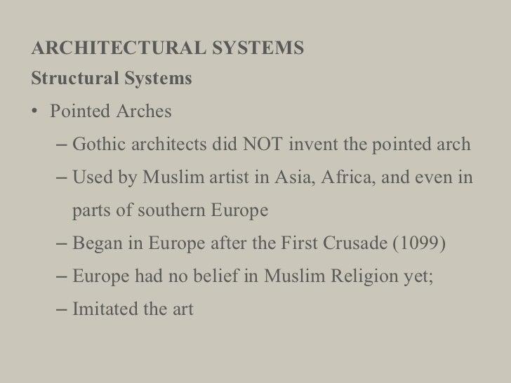 ARCHITECTURAL SYSTEMS <ul><li>Structural Systems </li></ul><ul><li>Pointed Arches </li></ul><ul><ul><li>Gothic architects ...