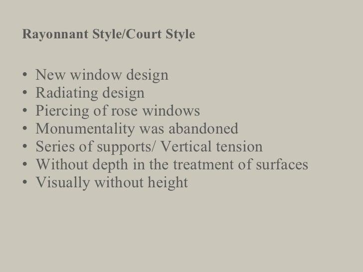 <ul><li>New window design </li></ul><ul><li>Radiating design </li></ul><ul><li>Piercing of rose windows </li></ul><ul><li>...