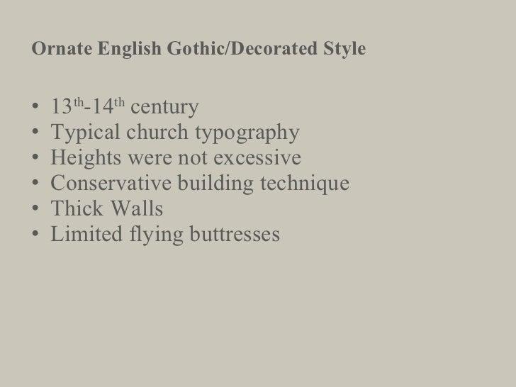 <ul><li>13 th -14 th  century </li></ul><ul><li>Typical church typography </li></ul><ul><li>Heights were not excessive </l...