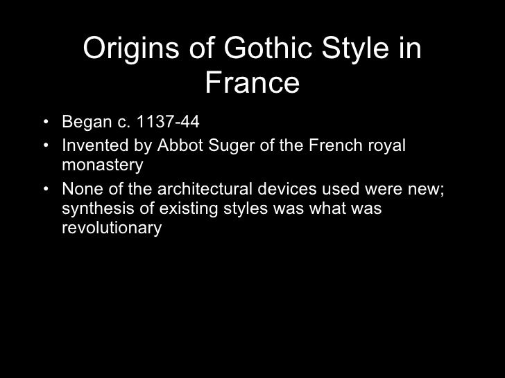 gothic styles dominated western europes architecture in four hundred years Case western reserve university,  a few years ago,  the vocabulary is dominated by the proverbial four-letter word.
