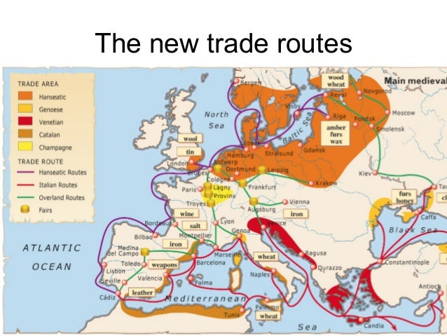 European trading systems in the middle ages