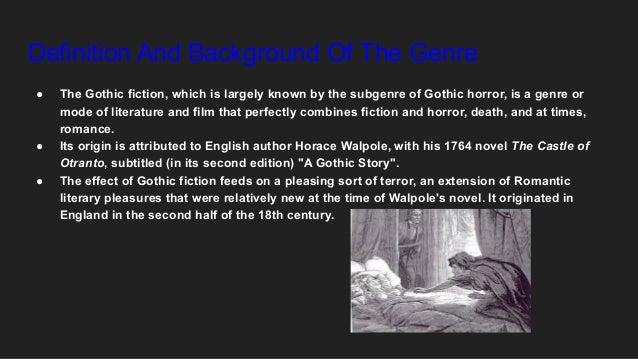 Gothic novel Slide 2